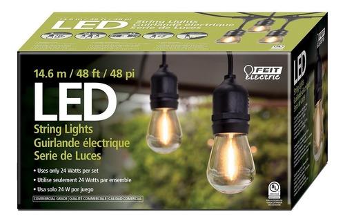 tira luces en serie led estilo vintage exterior 14.6m