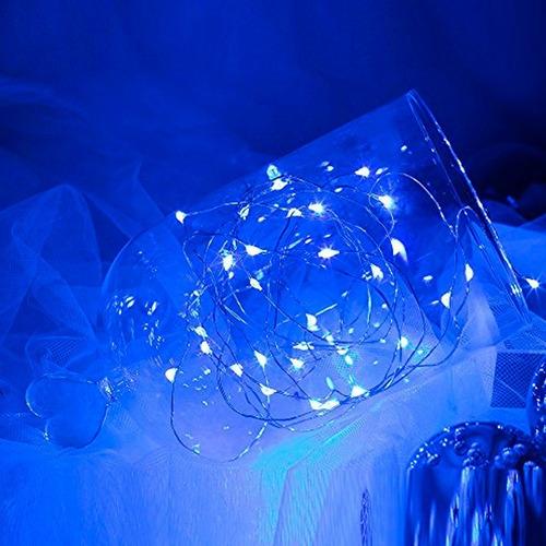 tira luces led alambre azul 1.80 metros evento decoración