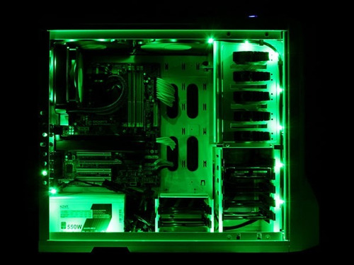 tira luces led colores 100cm gaming gabinete modding rojo az