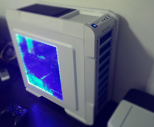 tira luces led colores 100cm gaming gabinete modding rojo az