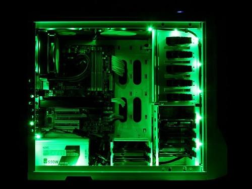 tira luces led colores 60cm gaming gabinete modding rojo azu