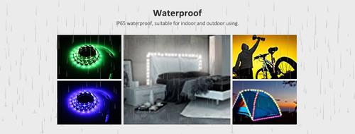 tira luz led impermeable 5v usb con controlador rgb 5050 smd