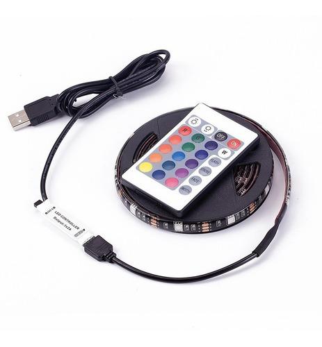 tira luz led rgb 5050 1 m usb tv autos pc a control remoto