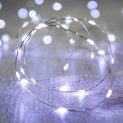 tira micro led alambre guirnalda pila 10 metros hilo navidad