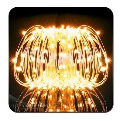 tira micro led alambre guirnalda pila 2 metros navidad cable
