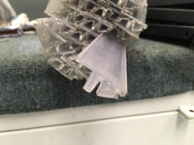 tira portaprecio frontal cristal para gondola 120 cms
