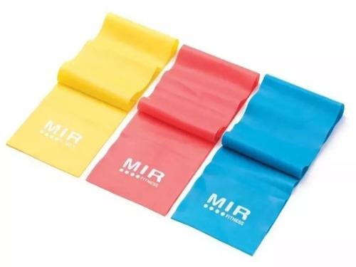 tiraband banda elástica látex plana fitness yoga mir