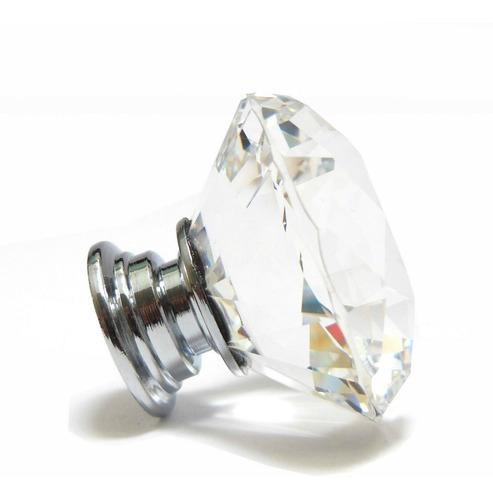 tirador cristal diamante jumbo 4 cm x10