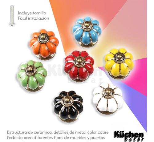 tirador de cerámica calabaza decorativos para puertas cajones de muebles cajón perilla deco incluye tornillo cuotas