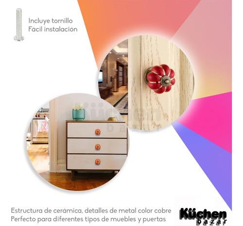 tirador de cerámica tiradores decorativos para puertas cajones de muebles cajón perilla deco herraje incluye tornillo
