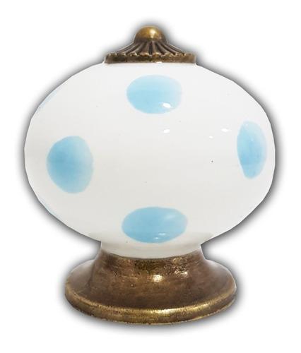 tirador de cerámica tiradores decorativos para puertas cajones de muebles cajón perilla deco lunares cuotas