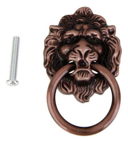 tirador d/puerta/cajón d/gabinete diseño cabeza d/león 2 u.