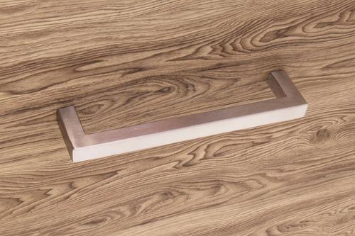 tirador manilla cuadrado de acero 12.8cm  closet cocinas