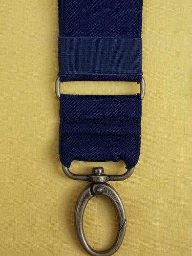 tirador pantalón suspenders mosqueton bronce azul marino 4cm