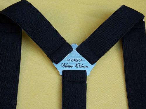 tirador pantalón suspendes doble pinza madison negro pla 3cm