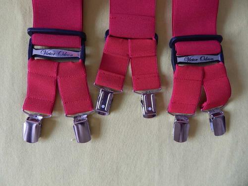 tirador para pantalón doble pinza madison rojo 5cm