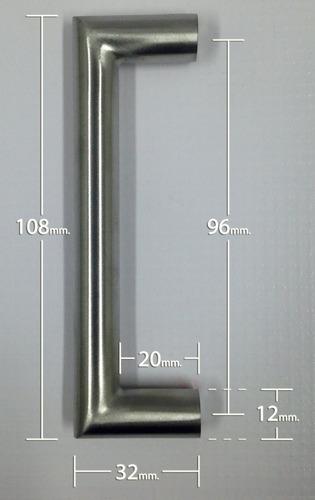 tirador redondo (gavinete, gaveta, closet) a. inox. 108mm.