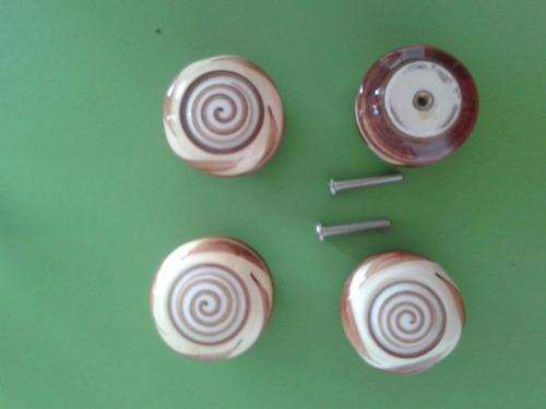 tiradores ceramica para muebles