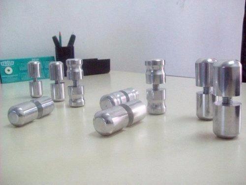 tiradores cromados para mamparas y vidrios