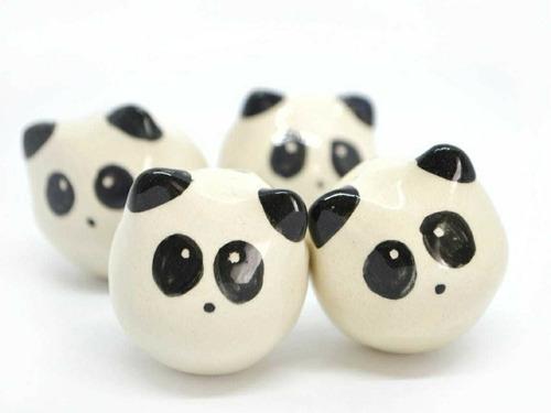 tiradores de cerámica picuru infantil- oso panda