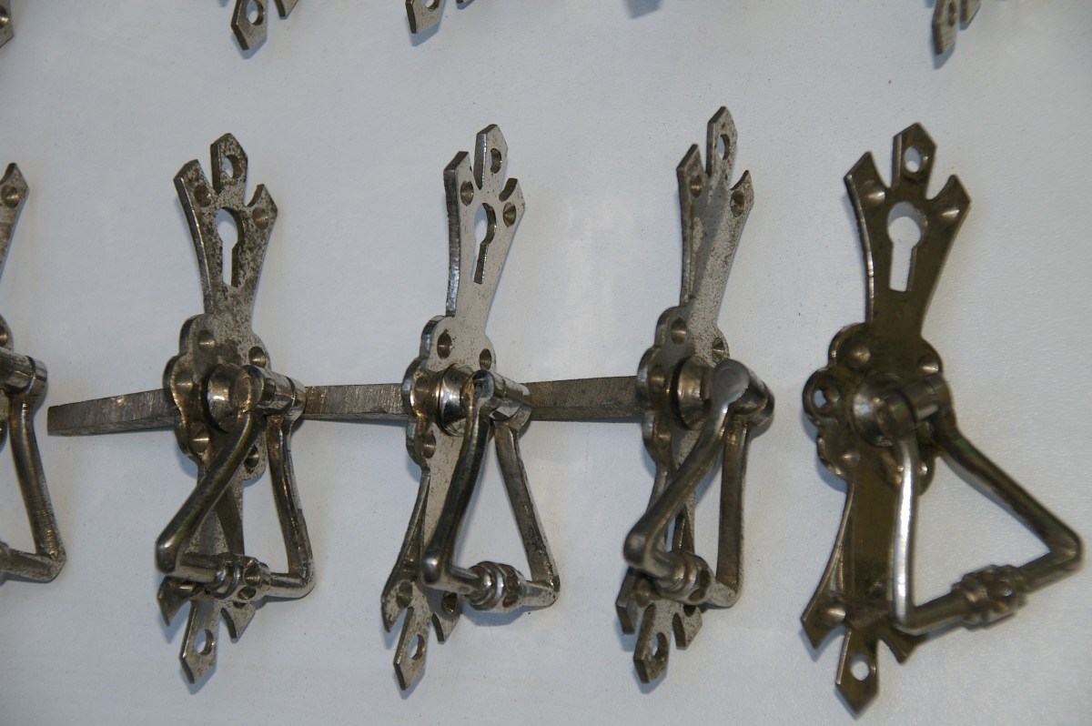 Tiradores Herrajes Antiguos Niquelados Para Muebles 74 00 En  ~ Tiradores Para Cajones Antiguos