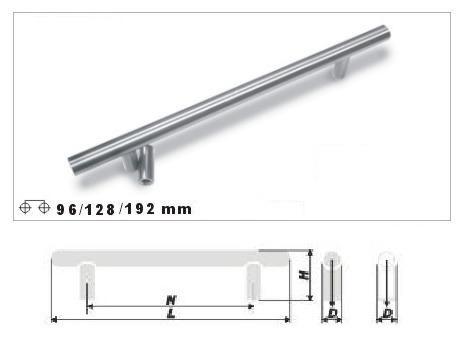 tiradores para tus muebles barras acero inox 8925t-128mm