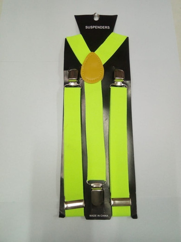 tiradores unisex regulables variados negro fluo calaca