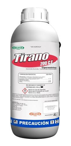 tirano 250ml cipermetrina insecticida control plagas