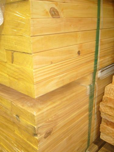 tirante de madera pino cepillado 2  x 6  x 3,05 mts techos