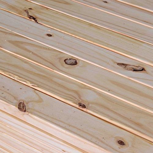 tirante de madera pino cepillado 2 x 6 x 3,05 mts. techos