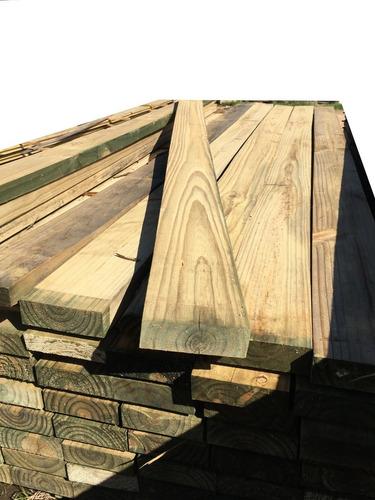 tirante de pino tratado c/cca 2x8x4.50 (por unidad) fabiltop