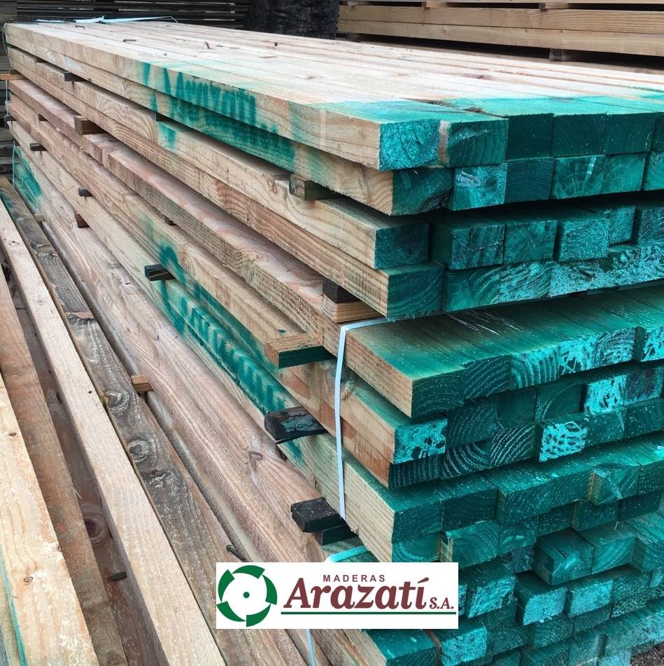 Tirantes de madera tirante pino vigas cabios arazati for Madera de pino tratada