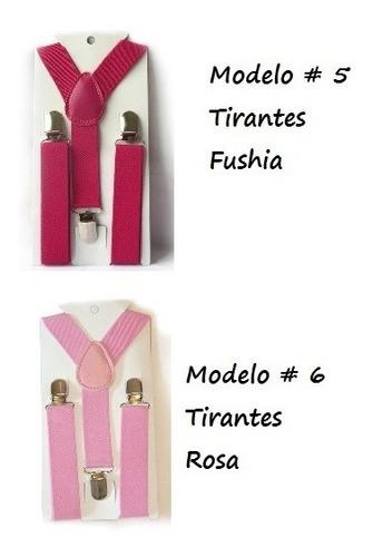 tirantes para niños varios colores