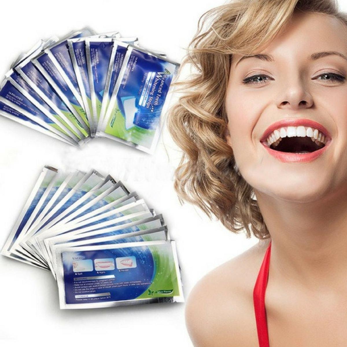 Tiras De Gel Clareamento Dos Dentes Profissional Branquear R 48