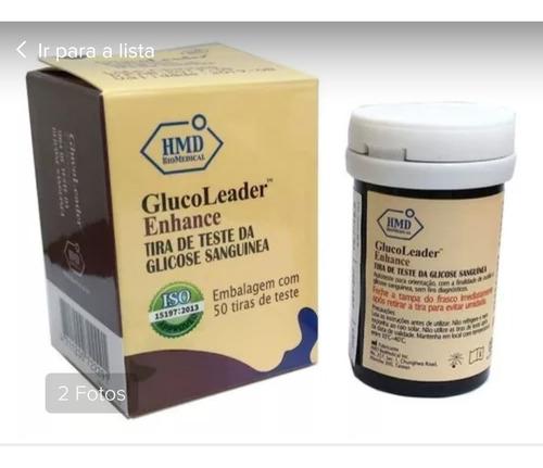 tiras de glicemia frascos com 50 unidades - glucoleader
