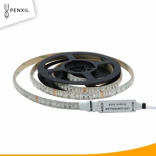 tiras led 3528 rgb 50cm portatil pilas aa control remoto