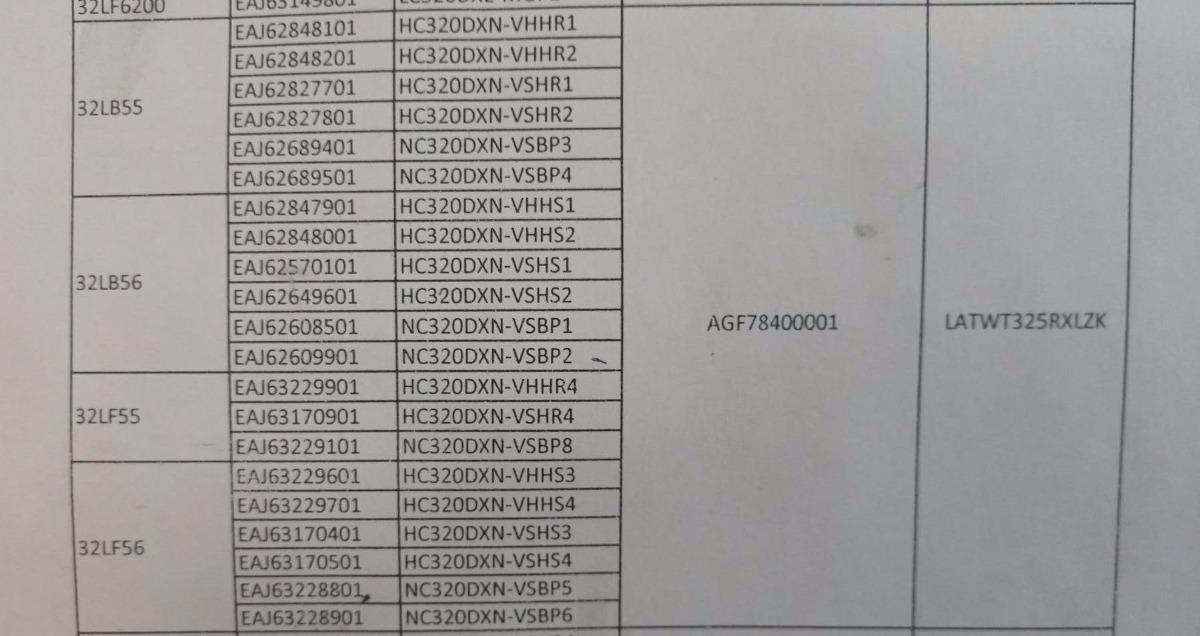 Tiras Led Agf78400001 modelos 32lb55  32lb56  32lf55  32lf56