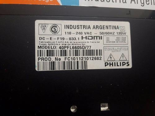 tiras led  de tv lcd philips 40pfl6605d/77 precio por unidad