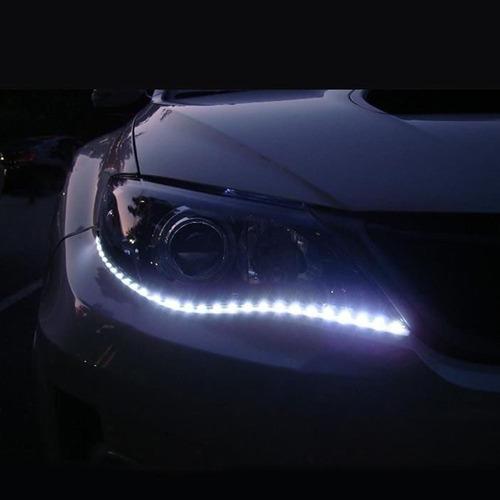 tiras led par carro moto barra 30cm luz blanca