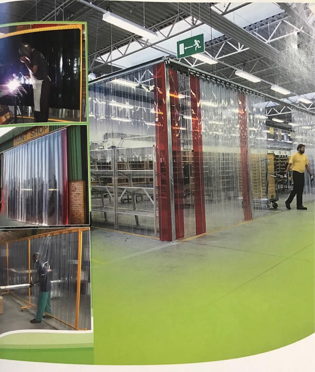 Tiras pvc cortinas flexibles por metro rollo o - Cortinas por metros ...
