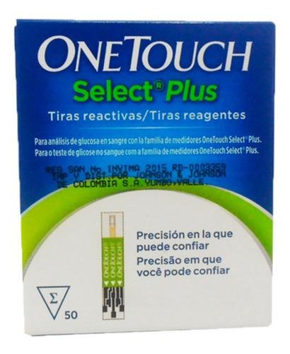 tiras tirillas glucometro one touch select plus x50+lancetas