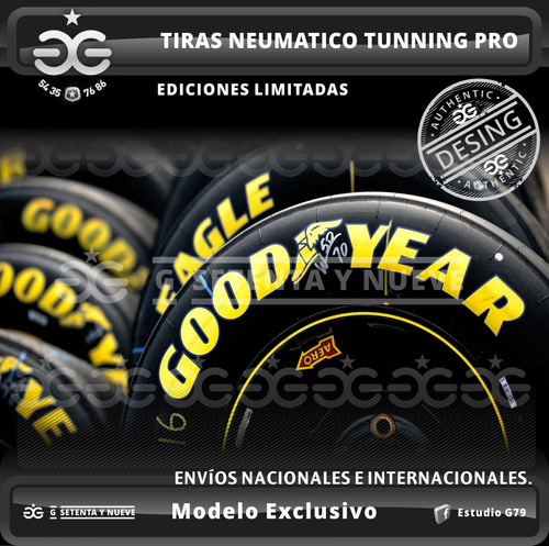 tiras tunning neumaticos autos + calcos de regalos !!!