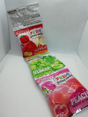 tirita de gomitas de sabores frutales japoneses