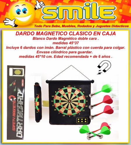 tiro al blanco doble magnético dardos con imán caja smile