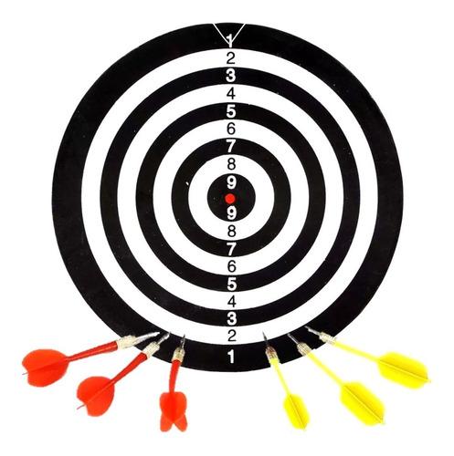 tiro al blanco madera c/ dardos 41cm new  an170 bigshop
