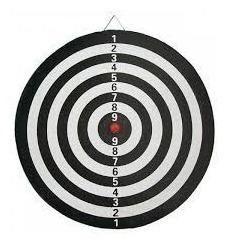 tiro al blanco reversible 43 cm juego de 6 dardos de regalo