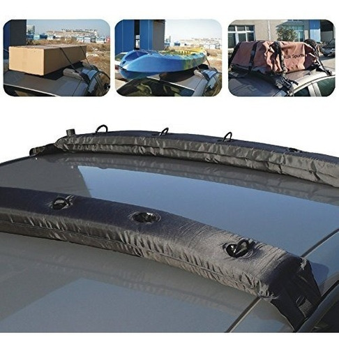 tirol nuevo par universal auto inflable top air roof rack...