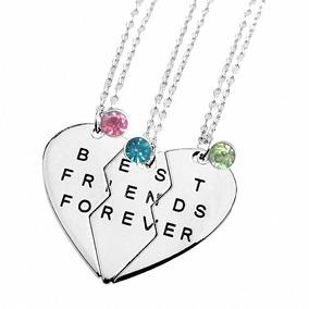 diseño innovador patrones de moda estilos de moda Tisda Best Friends Forever Conjunto De Tres Collares Con.