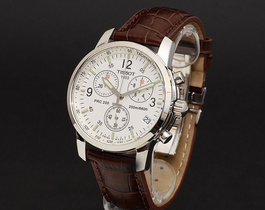 9f9292afbfb Relógio Tissot Prc200 Couro Marrom Masculino Caixa Original - R  598 ...