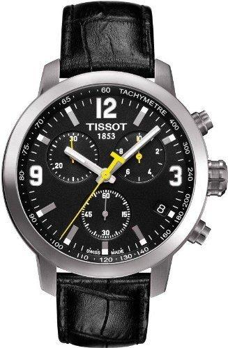 tissot prc 200 chronograph leather t055.417.16.057.00